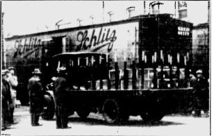 Schlitz Trains Preparing for April 7th (Milwaukee Sentinel April 5, 1933)