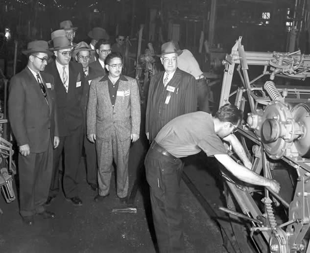 Roto-Baler Assembly Line at AC La Porte Works( The La Porte County Historical Society Museum)