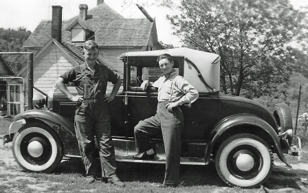 Grandpa (right) with his first car