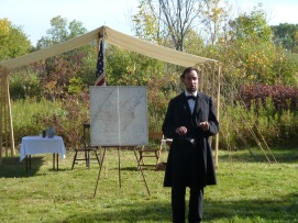 President Lincoln talking about the upcoming battle.