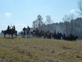 Union & Confederate Cavalry Skirmish
