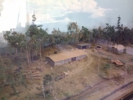 Model of what the camp would have looked like in the logging days.