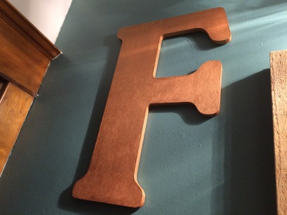 """""""F"""" for Frederick"""