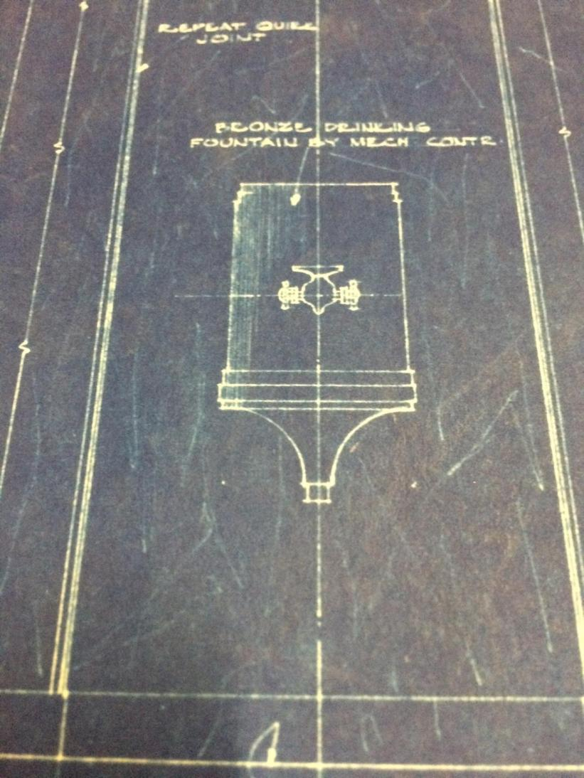 Blueprint of Drinking Fountain