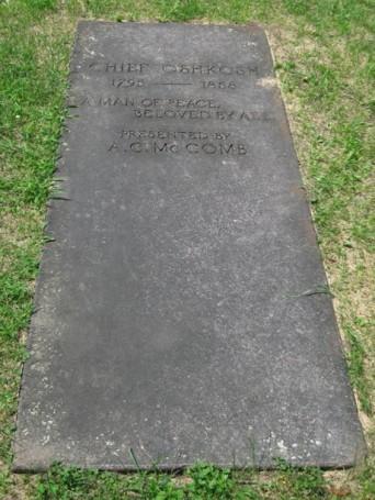 Marker Above Chief Oshkosh's Grave