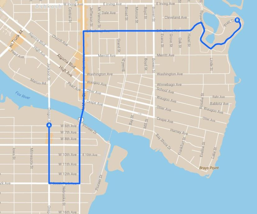 Chief Oshkosh Day Parade Route