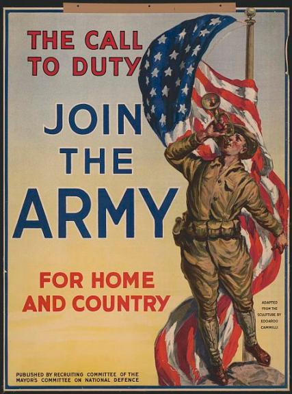 US Army Enlistment Poster- Library of Congress