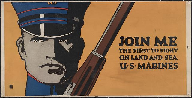 US Marines Recruitment Poster-Library of Congress