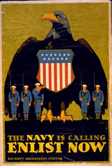 US Navy Recruitment Poster- Library of Congress