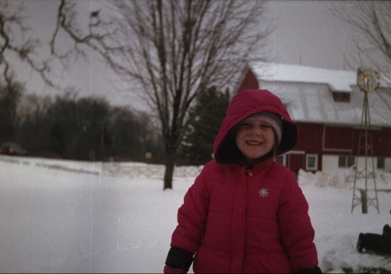 My niece playing in the snow.