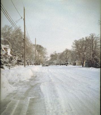 Oshkosh after a blizzard