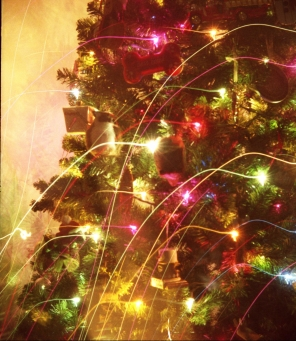 Slow shutter with Christmas tree