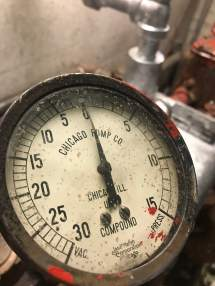 I found the old gauge laying in a cabinet, but it no longer works