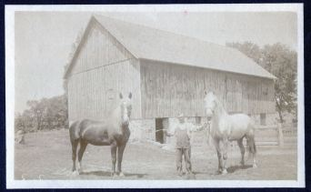 Young Great-Grandpa Arthur and his horses